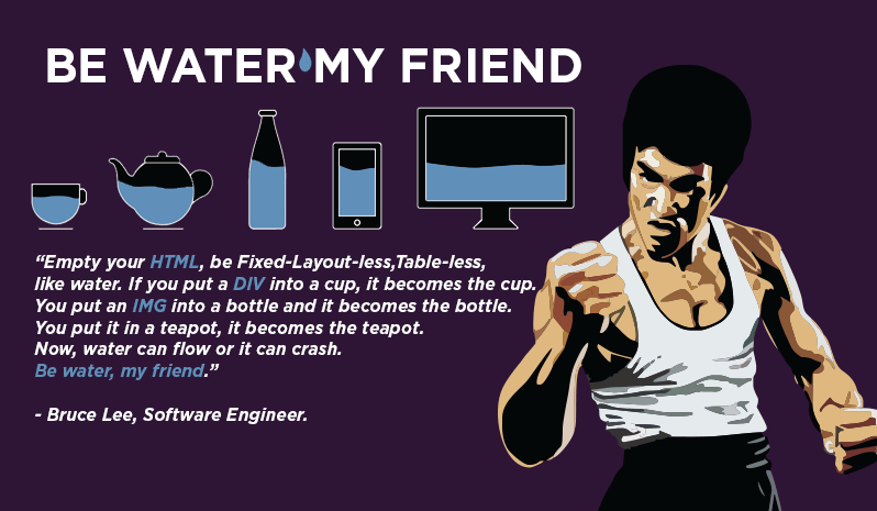Bruce Lee inventó el Responsive Design